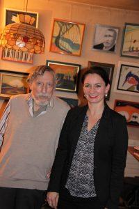 mit dem Dokumentarfilmer und Autor Georg Stefan Troller in Paris
